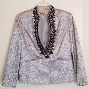 Silver and Brocade Kasper Jacket and Shell